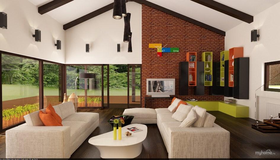 Интерьер дом в стиле лофт